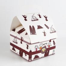 Nach Maß, der Nahrungsmittelkuchen-Papier-Kasten druckt
