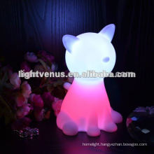 BSCI certified manufactuer Cat shape color changing LED night light