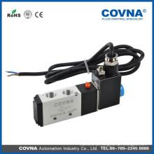 Série HK4V210-08 Válvula solenóide de ar de duas vias DC12v de cabeça simples de 5/2 vias