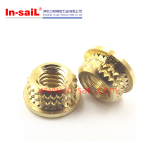 OEM/ODM Fasteners Knurled Threaded Brass Insert Nut