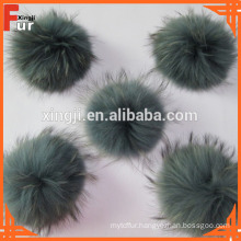12-18cm Dyed Color Raccoon fur pom poms