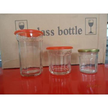 Honey Jar, Jam Jar, Glass Jar with Cover
