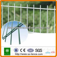 Clôture en double barrière en poudre
