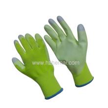 Hi-Vis Verde PU Revestido Senhoras Luvas I-Touch Fingertips Luva de Trabalho