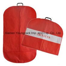Bolso personalizado de la cubierta de la ropa no tejida con la manija plástica