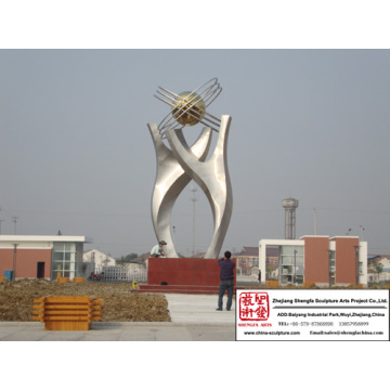 City Outdoor Stainless Steel Sculpture