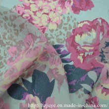 Chiffion / Impression en mousseline de soie / Tissu d'été / Polyester Doublure