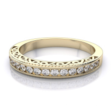 Joyería de la plata esterlina de la venda 925 del anillo de diamante de la manera