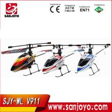 2.4G 4CH sola cuchilla wl v911 girocompás RC MINI exterior r / c helicóptero con LCD y 2 baterías v911 helicóptero
