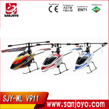 2.4G 4CH Single Blade wl v911 Gyro RC MINI Outdoor r/c copter With LCD and 2 Batteries v911 helicopter