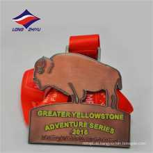 Antike Kupfer Abenteuer schöne Design benutzerdefinierte Metall Sport Award Medaille