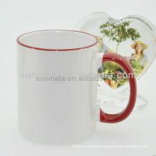 Sunmeta 11oz leere Sublimation Hitze Presse Keramik Farbe Becher