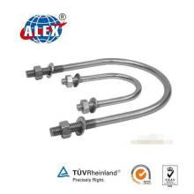 Нержавеющая сталь AISI 304/316 Болт OEM U с шайбой и гайками