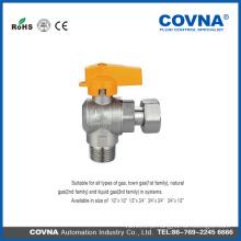 Válvula de gás de latão de cobre Válvula de esfera de gás desenho de válvula de borboleta