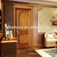 Dernière conception porte en bois porte intérieure chambre porte mdf