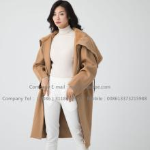 Cashmere Coat With Mink Fur För Women