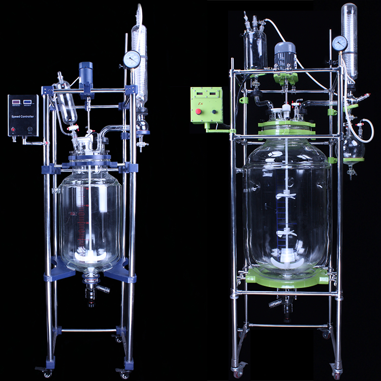 10-200L jacketed glass reactor