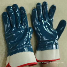 NMSAFETY alta qualidade cut 2 blue nitrile oil luva de trabalho industrial