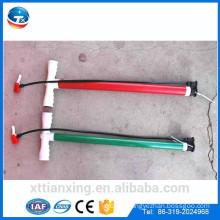 bicycle handle pump 30 35mm diameter steel pipe with screw plastic handle bicycle pump wholesale
