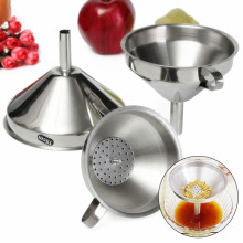 Kitchen 3 Piece Stainless Steel Funnel Set