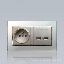 USB-Steckdose für den französischen und europäischen Markt