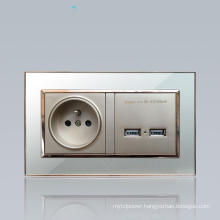 USB Wall Socket for French and European Market