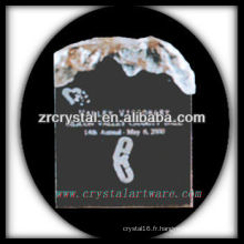 design attrayant blanc trophée en cristal X057