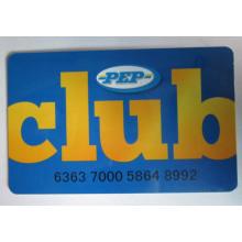 Tarjeta de membresía PVC