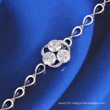 Wholesale Rhodium Plated Fashion Costume Jewelry Bracelet