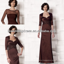 HM2023 Mãe de fraldas clássicas dos vestidos de casaco de noiva modesto