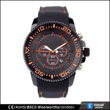 3ATM impermeable con bisel giratorio fábrica directa de alta calidad de silicio reloj hombre de Japón cuarzo