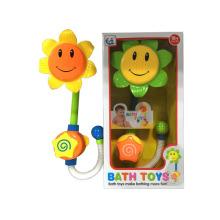 Lindo baño aspersor cabeza girasol juguete baño juguete