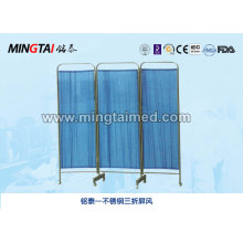 Stainless steel three fold screen
