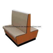 Graues PU-Leder Holz Sofa Loveseat für Buffet