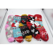 Hiver à tricoter en laine mélanges chauds fous chauds chaussettes intérieures antidérapantes pour gros