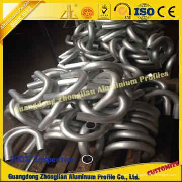 Tuyau en aluminium avec cintrage en profondeur