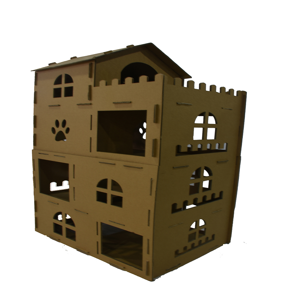 cats cardboard house