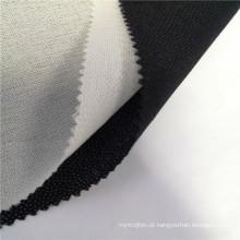 Tecido entrelaçado de tecido fusível para colarinho placket