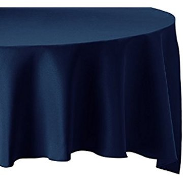 Solid blue Cotton/poly plain table cloth
