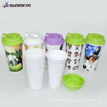 Sunmeta Nuevas tazas de café aisladas de plástico de doble pared --- fabricante