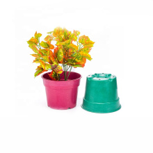 Colorful small plastic potted plants tray for flower