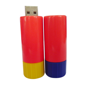 Cilinder Plastic USB Flash Drive 2gb Pendrive