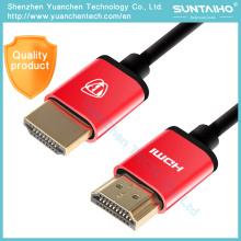 1.4 V 1080P de alta velocidad chapado en oro enchufe macho-macho de cable HDMI