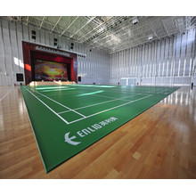 green pvc sports flooring for badminton court