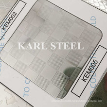 201 Stainless Steel Silver Color Embossed Kem005 Sheet
