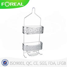 Nickel Scroll Metal Wire Shower Caddy