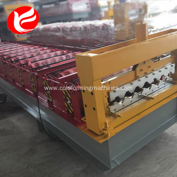 Newly Arrival for China Manufacturer of Wall And Roof Tile Making Machine,Wall And Roof Tile Roll Forming Machine Fully automatic forming steel roof panel roll forming machine supply to Poland Factory