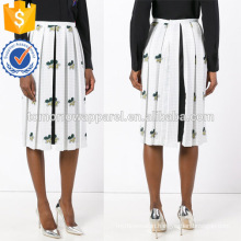 Fashion Lady Multicolored Pleated Floral-Print Midi Summer Skirt Manufacture Wholesale Fashion Women Apparel (TA0022S)