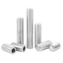 Stainless Steel 316 DIN913 M3 M4 M5 M6 M8 M10 M12 M14 M16 Hexagon Socket Flat Point Headless Set Screw for Door Handle