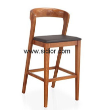 (SD-1012B) Modern Hotel Restaurant Club Furniture Wooden High Barstool Chair